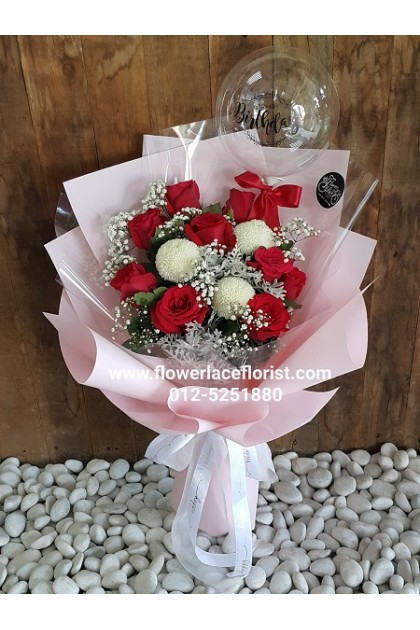 Balloon With Flower Bouquet 001